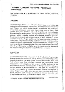 Laporan Lawatan Ke Tapak Pembinaan Bangunan Ukm Journal Article