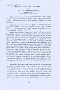 Pengertian Kata Sejarah Ukm Journal Article Repository